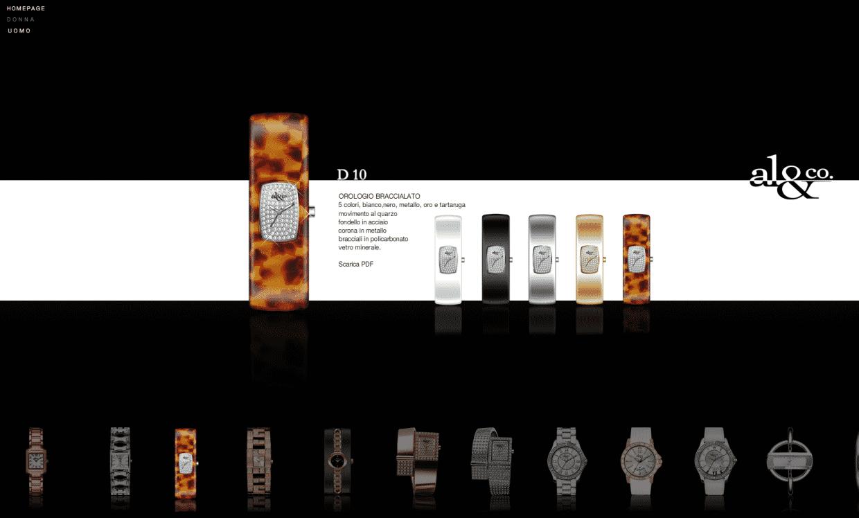 creazione sito azienda orologi
