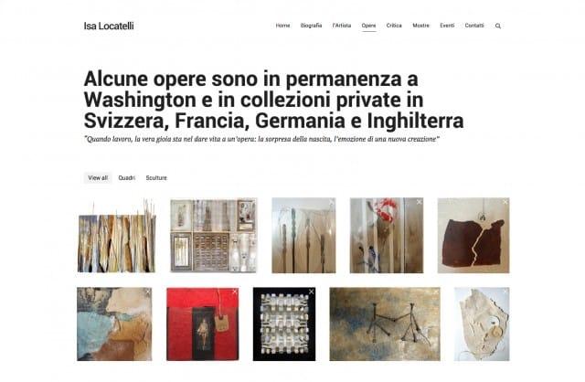 creazione sito galleria d arte