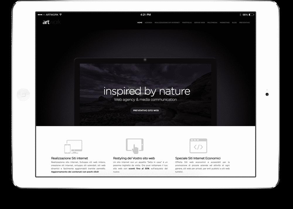 creazione sito per tablet ipad