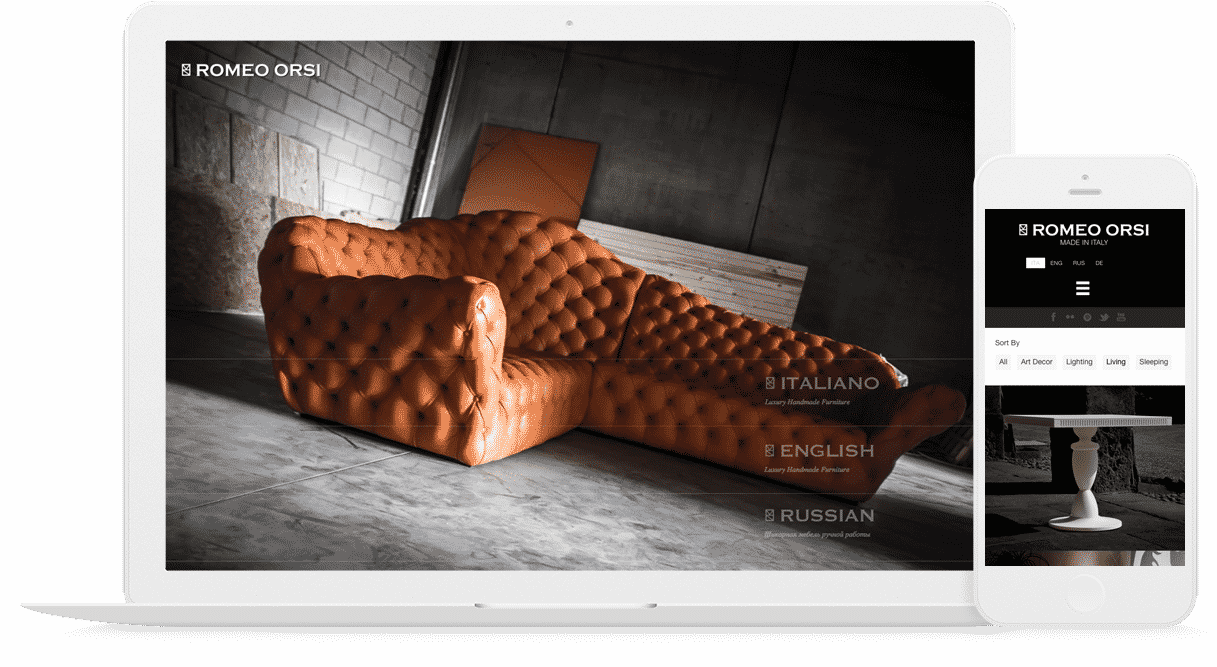 creazione sito azienda di interior design mobile responsive