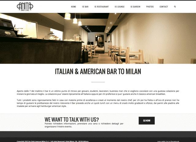 creazione sito per locale ristorante