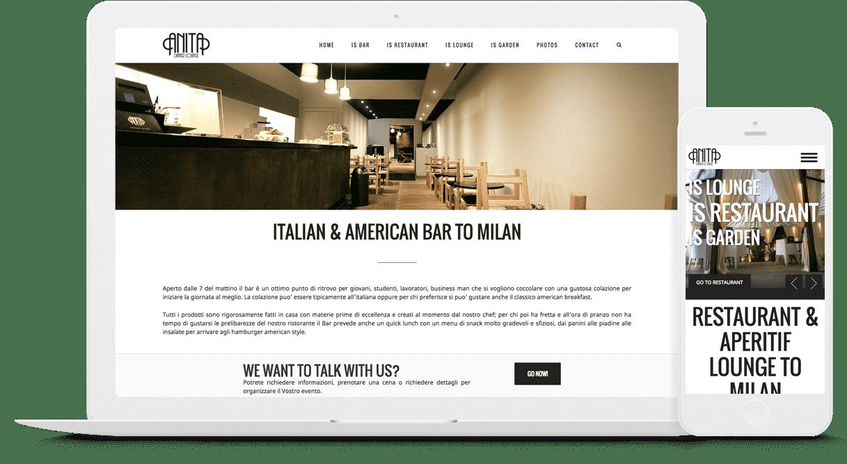 creazione sito ristorante