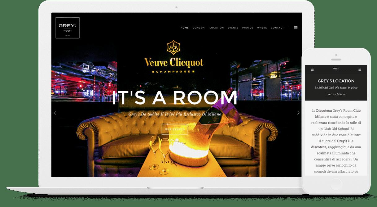 creazione sito web discoteca