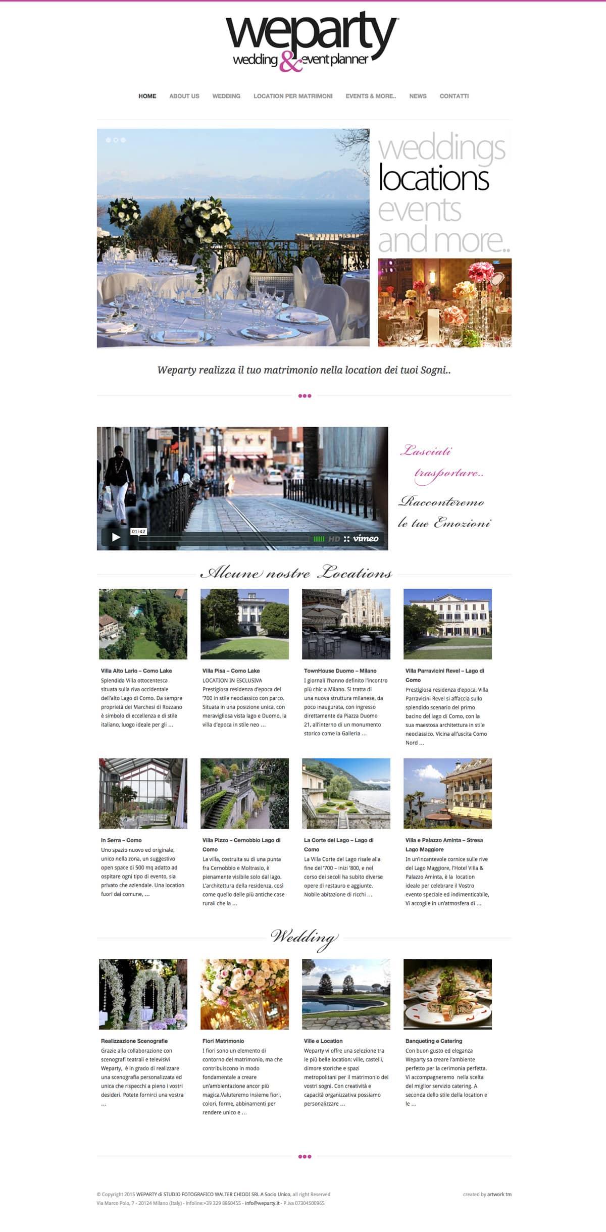 creazione sito wedding planner