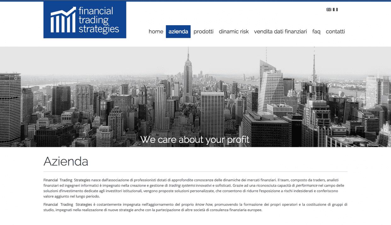 realizzazione siti aziendale societa finanziarie
