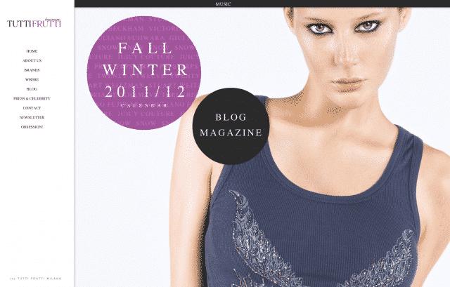 realizzazione sito showroom moda