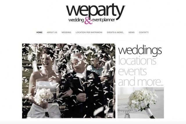 realizzazione sito wedding planner e agenzia di eventi