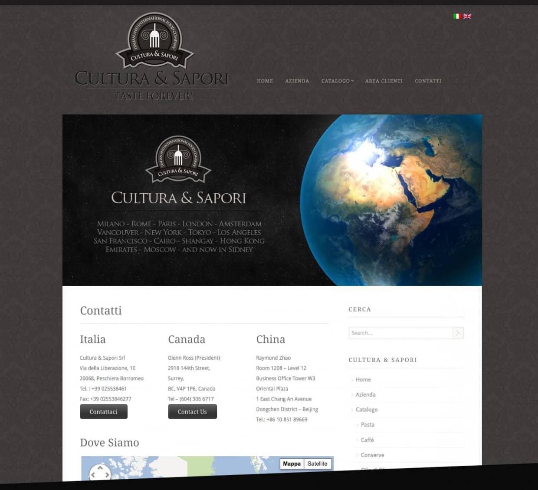 sito web aziendale alimentare