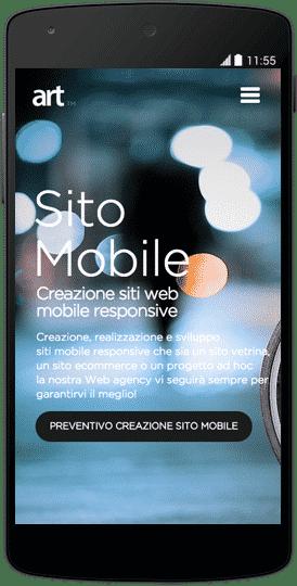 sito web per android