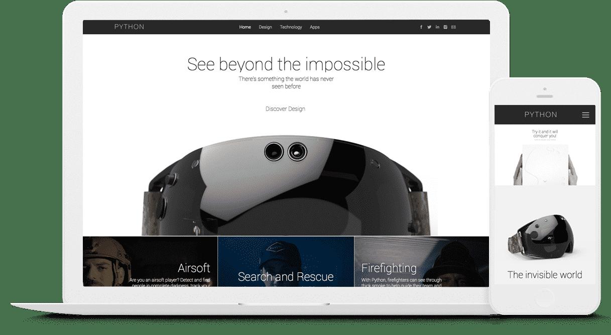 Creazione e realizzazione sito web azienda e prodotto