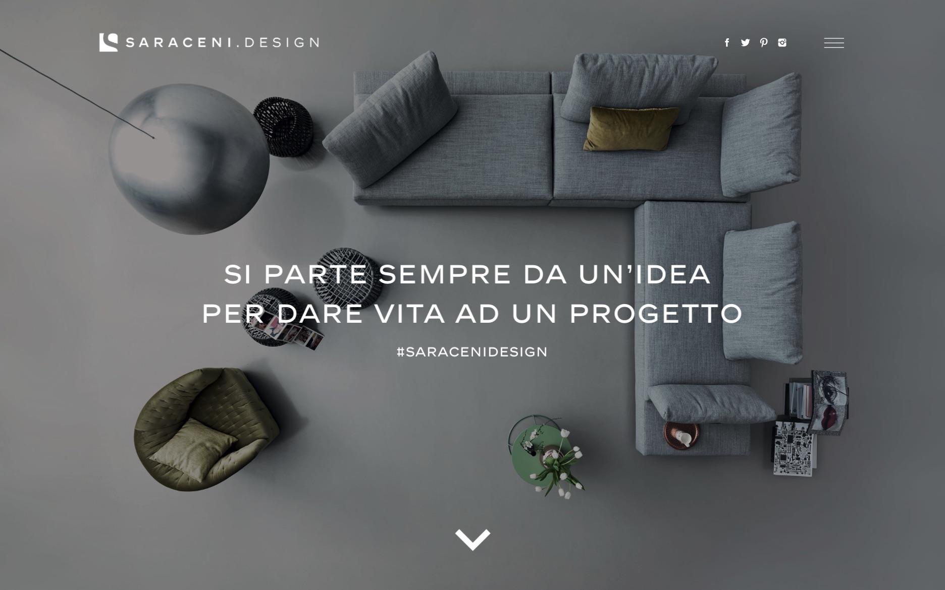 Creazione sito web showroom negozio arredamento saraceni for Sito per architetti