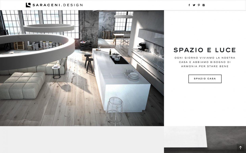 Creazione sito web showroom negozio arredamento saraceni for Sito arredamento design