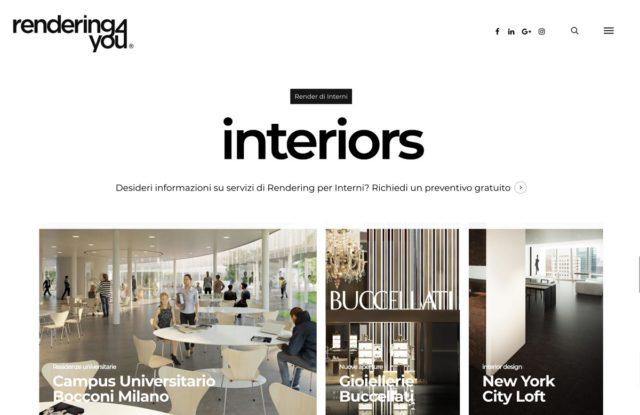 creazione sito per azienda di rendering