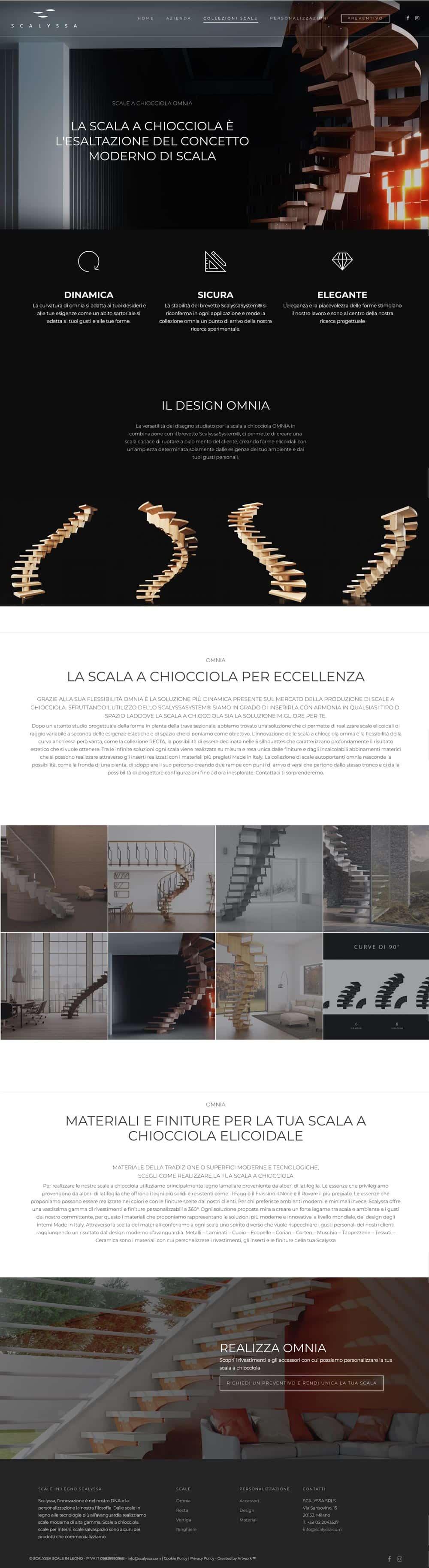 sito azienda produttrice scale scalyssa