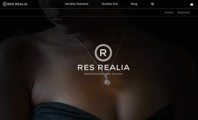 creazione sito e-commerce oro diamanti