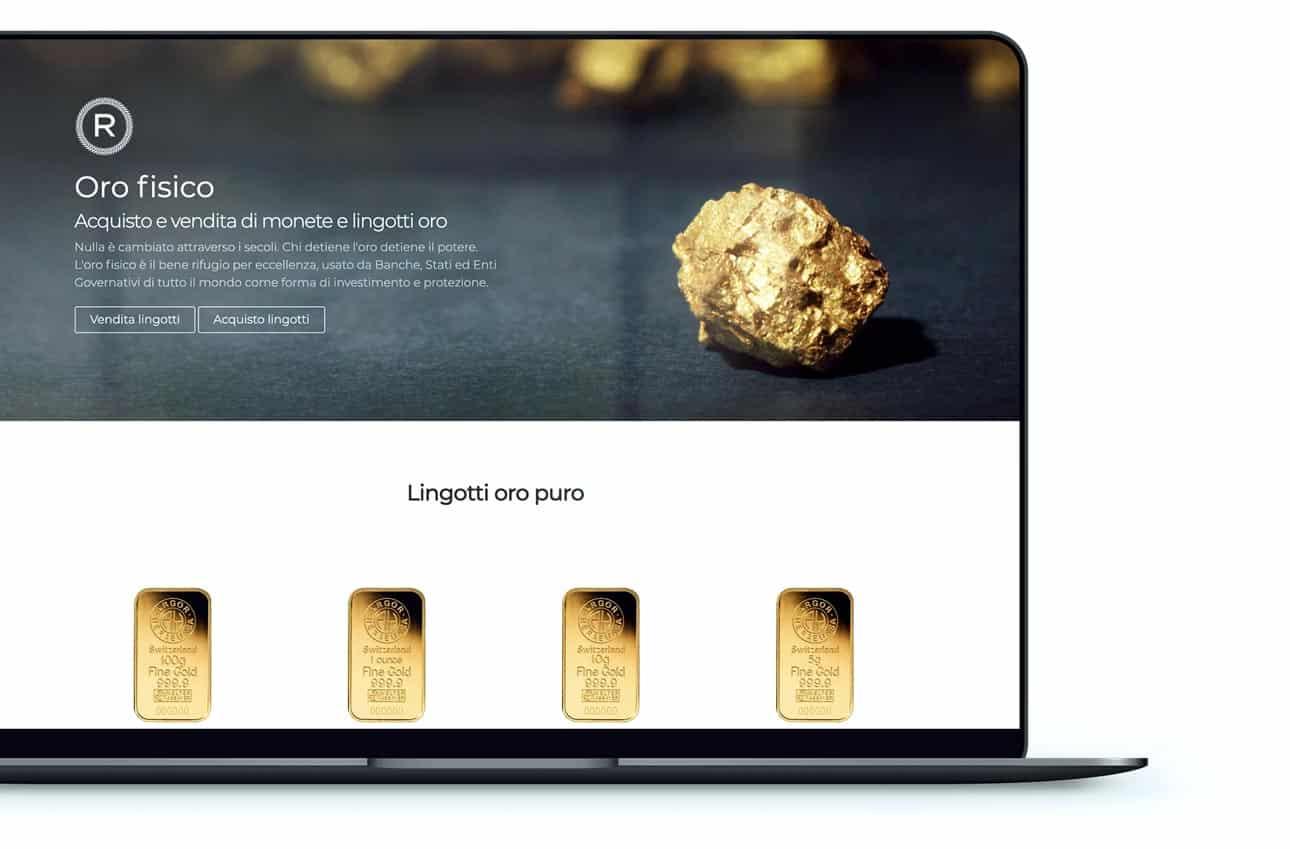 creazione sito vendita oro