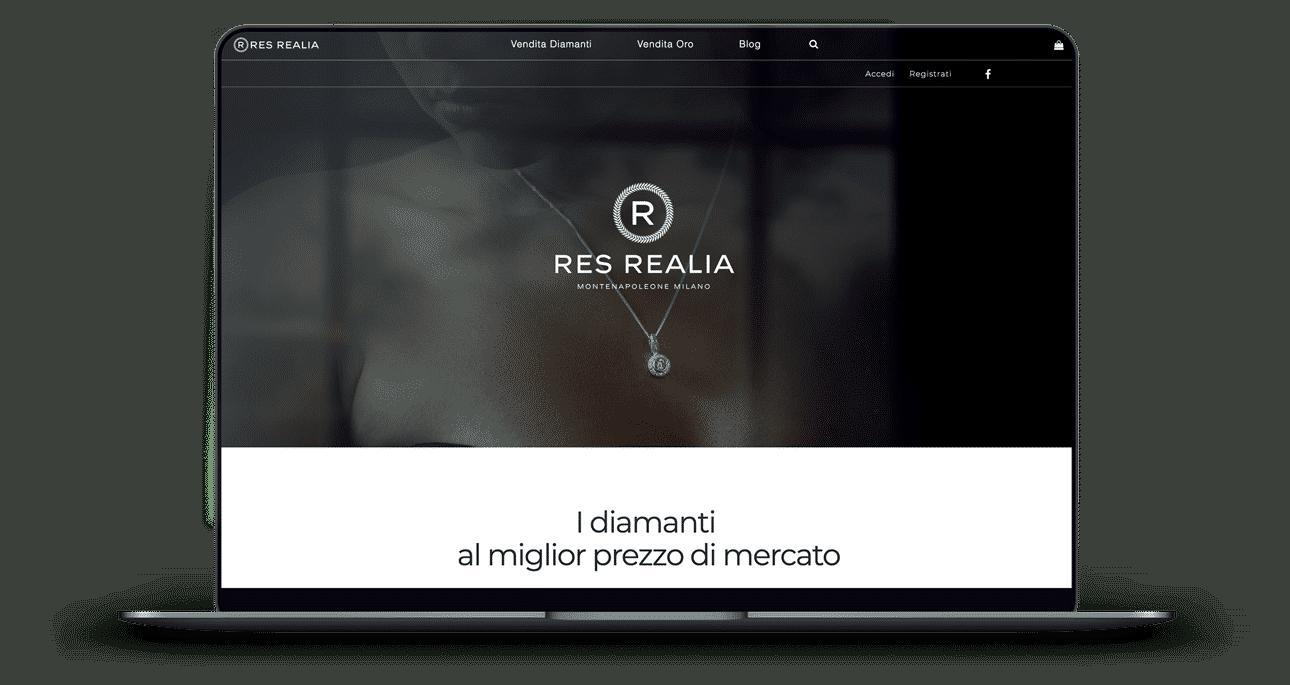 realizzazione sito e-commerce diamanti e oro