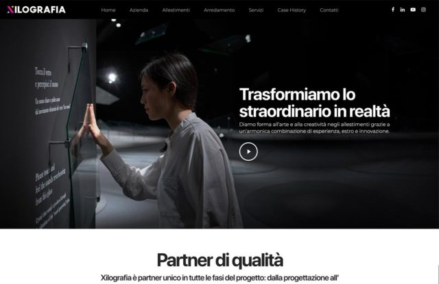 realizzazione sito internet e creazione logo xilografia