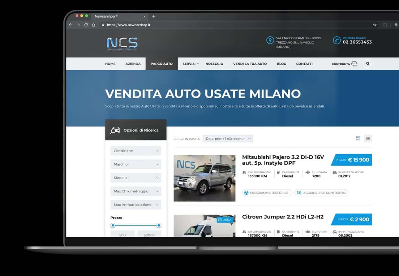 creazione sito per concessionario auto