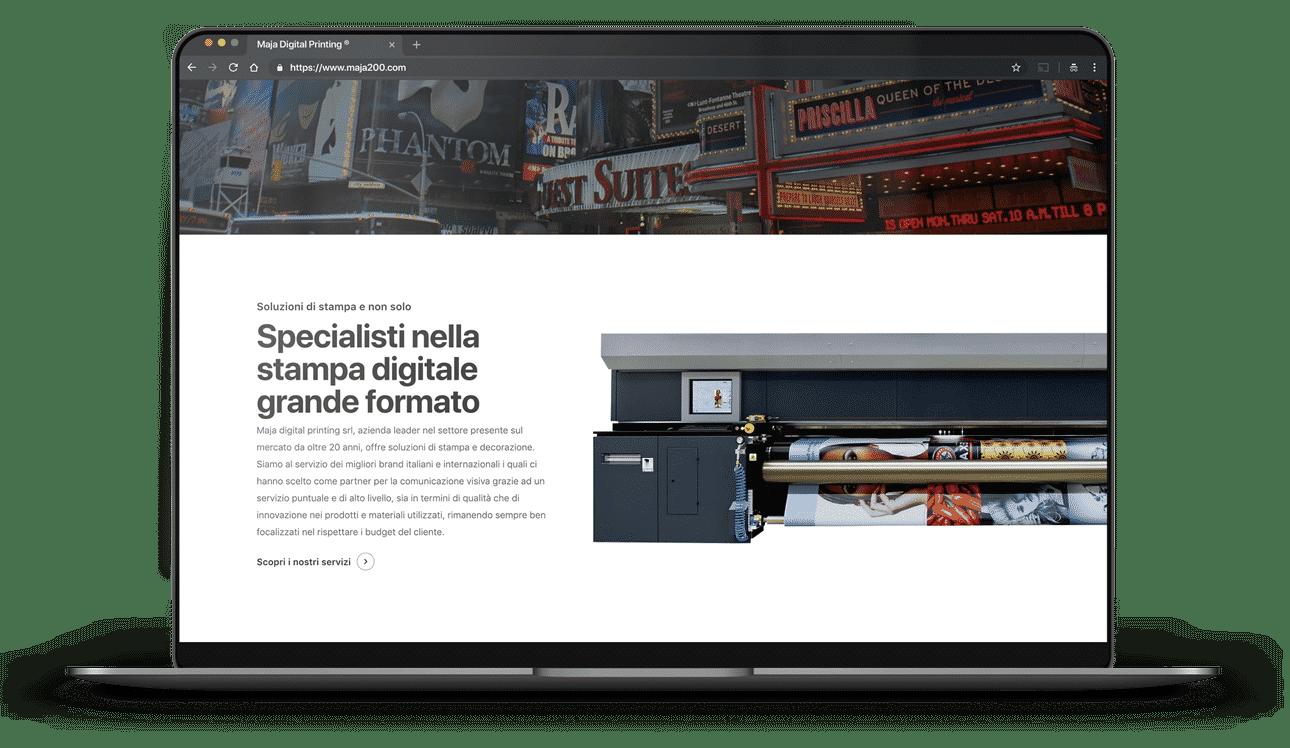 sito per tipografia