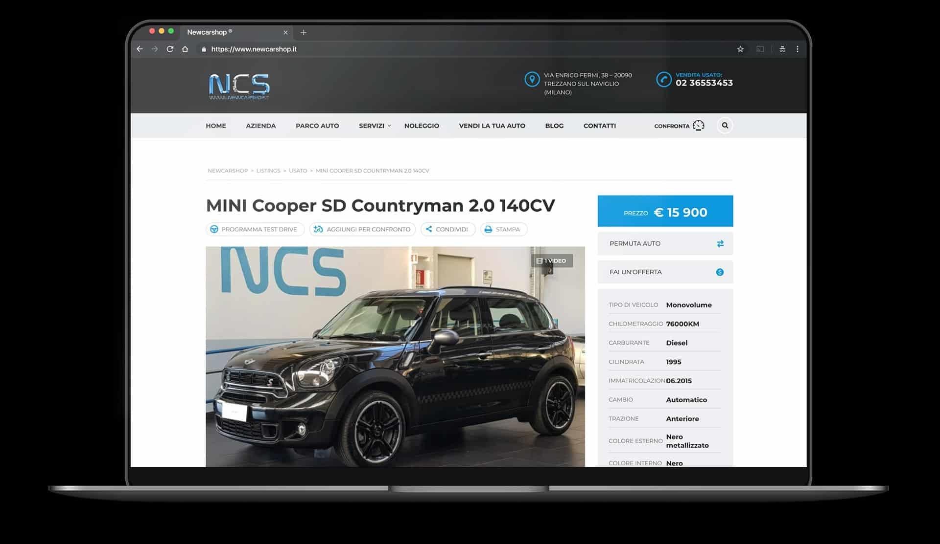 sito web per concessionaria auto