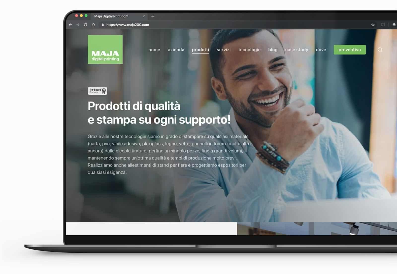 sito web per tipografia
