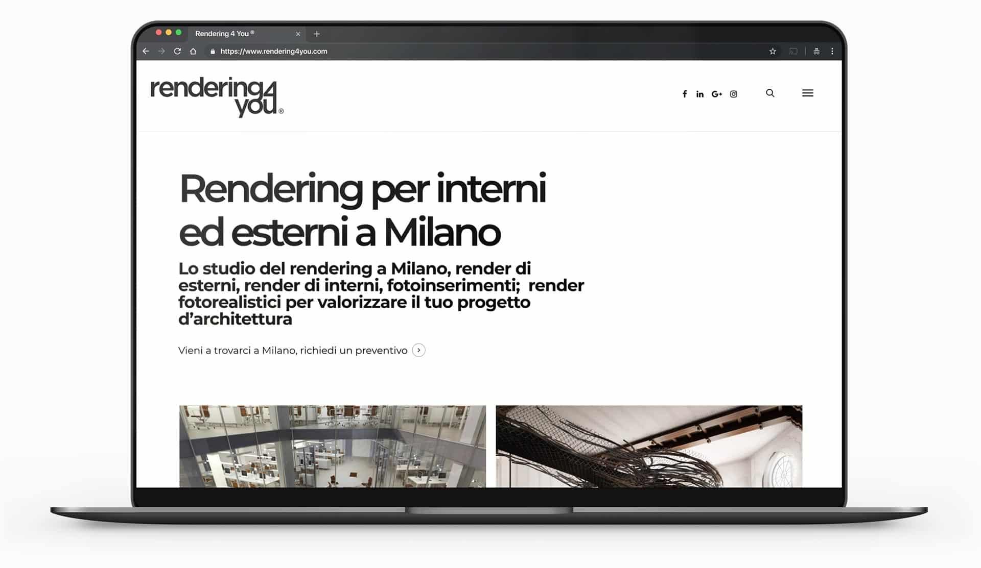 sito web per studi di rendering