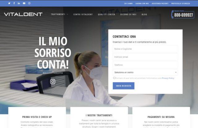 realizzazione sito internet dentista